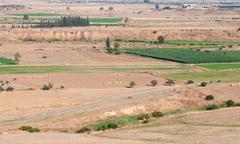 Agricultural Farmland Cyprus - stock photo