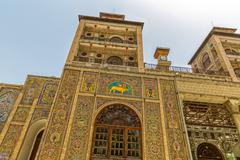 Golestan Palace exterior Edifice of the Sun tower - stock photo