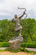 Aresh the Archer statue in park - stock photo
