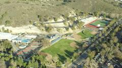 View of Warriors Stadium in Westlake Village, California, USA Stock Footage