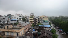 Cityscape of Mandalay city while rainning time in Mandalay, Myanmar Stock Footage
