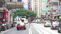 Street scene of Wanchai hong kong Stock Footage