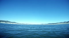Wide Angle POV Sailing Across Open Water on Lake Stock Footage