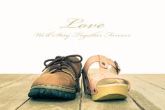 Love and Romance Concept Background Vintage Style Center View Stock Photos
