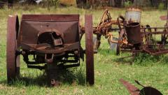 Old farm devices 1 Stock Footage