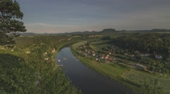 Sunset Timelapse Saxon Switzerland In Germany 33 - stock footage