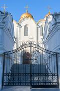 Assumption Cathedral, Vladimir shot close-up - stock photo