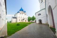 Cathedral of the Nativity of the Virgin in the Suzdal Kremlin Stock Photos