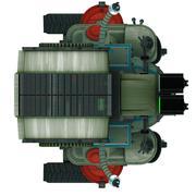 Stock Illustration of toy robot orthogonal proection in white back ground