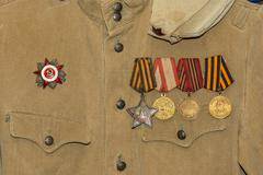 Soldier's tunic. Stock Photos