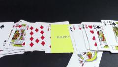 Happiness card Stock Footage