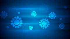 Dark blue hi-tech video animation with gears Stock Footage