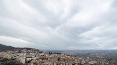 Storm clouds at sunset, Tivoli, Italy. Time Lapse. 4K Stock Footage