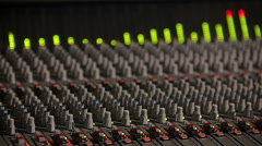 Professional Studio Equipment with Sound Controller and Equalizer Stock Footage