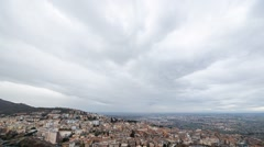 Storm clouds at sunset, Tivoli, Italy. Time Lapse. 1280x720 Stock Footage