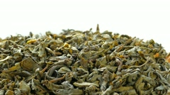 4k, The leaves of green tea Stock Footage