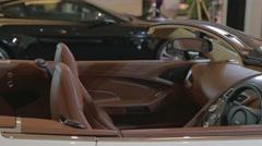 Aston Martin convertible -side angle Stock Footage