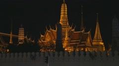 Night - temple of dawn Stock Footage