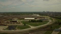 Detroit Aerial - stock footage