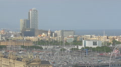 Hotel Arts on the seafront of Barcelona Stock Footage