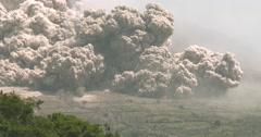 Large Pyroclastic Flow Destroys Farmland During Major Volcanic Eruption - stock footage