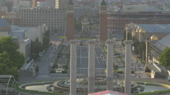The Magic Fountain of Montjuic in Barcelona Stock Footage