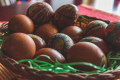 Stock Photo of Easter eggs in a bowl