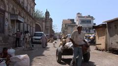 Street scene in Porbandar Stock Footage