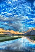 Nubra river in Nubra valley in Himalayas Stock Photos