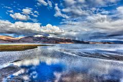 Lake Tso Moriri, Ladakh - stock photo