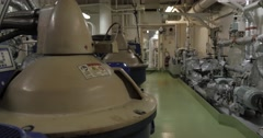 Purifier room of ship. Stock Footage