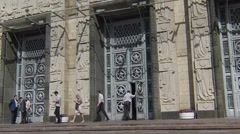 Entry doors to russian Ministry of Foreign Affairs Stock Footage
