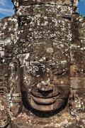 Face of Bayon temple, Angkor, Cambodia - stock photo