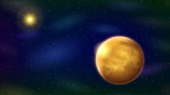 Solar System, Seamless Loop Arkistovideo