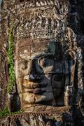 Face of Bayon temple, Angkor, Cambodia Stock Photos