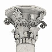 greek column marble in white background - stock illustration