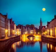 Bruges Brugge, Belgium - stock photo