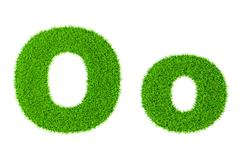 Stock Illustration of Grass letter O