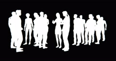 4k a group of Business people silhouette talking. Stock Footage