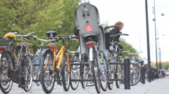 Bycicle Park road 3 Stock Footage