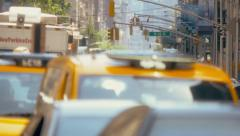 Congested street traffic on Manhattan, New York City - stock footage