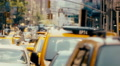 Congested street traffic on Manhattan, New York City Footage