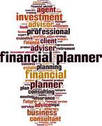 Financial planner word cloud - stock illustration