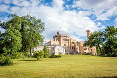Babelsberg Palace under reconstruction in Potsdam, Germany Stock Photos