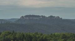 Koenigstein Castle Saxon Switzerland 43 - stock footage