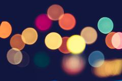 Abstract bokeh light - stock photo