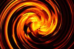 Abstract spiral flame texture for background used Stock Photos