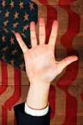 Composite image of hand with fingers spread out Stock Illustration