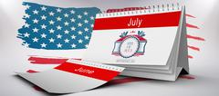 Stock Illustration of Composite image of independence day graphic