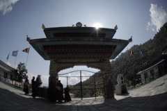 The gate to the temple. Nepal, Time Lapse Stock Footage